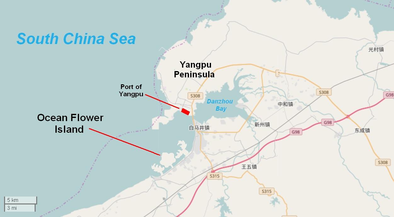 China Ocean Flower Island